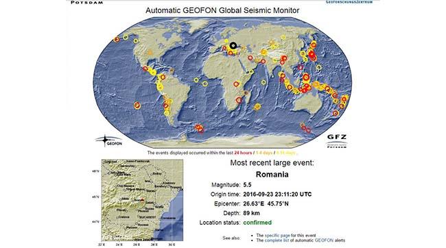 Только что Украину тряхнуло румынское землетрясение